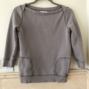 J. Crew French terry sweatshirt, gray, XS